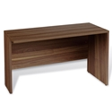Series 100 Medium Walnut Laminate Modern Return Desk