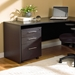 Series 100 Modern Mobile File Pedestal in Espresso Open Grain Melamine Laminate Finish