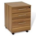 Series 100 Modern Walnut Mobile File Pedestal
