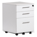 Sirius 100 Collection Modern White Mobile File Pedestal