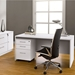 Series 100 Modern White Mobile File Cabinet