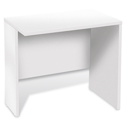 Series 100 Modern White Desk Return