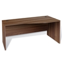 Series 100 Walnut Melamine Modern Right Desk