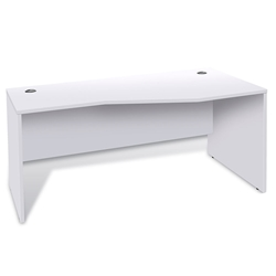 Series 100 Modern Right Hand White Desk