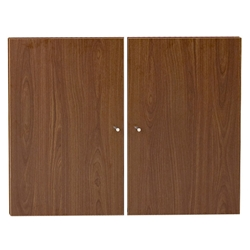 Series 100 Modern Solid Bookcase Doors in Walniut