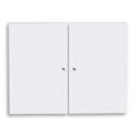 series 100 white solid bookcase doors