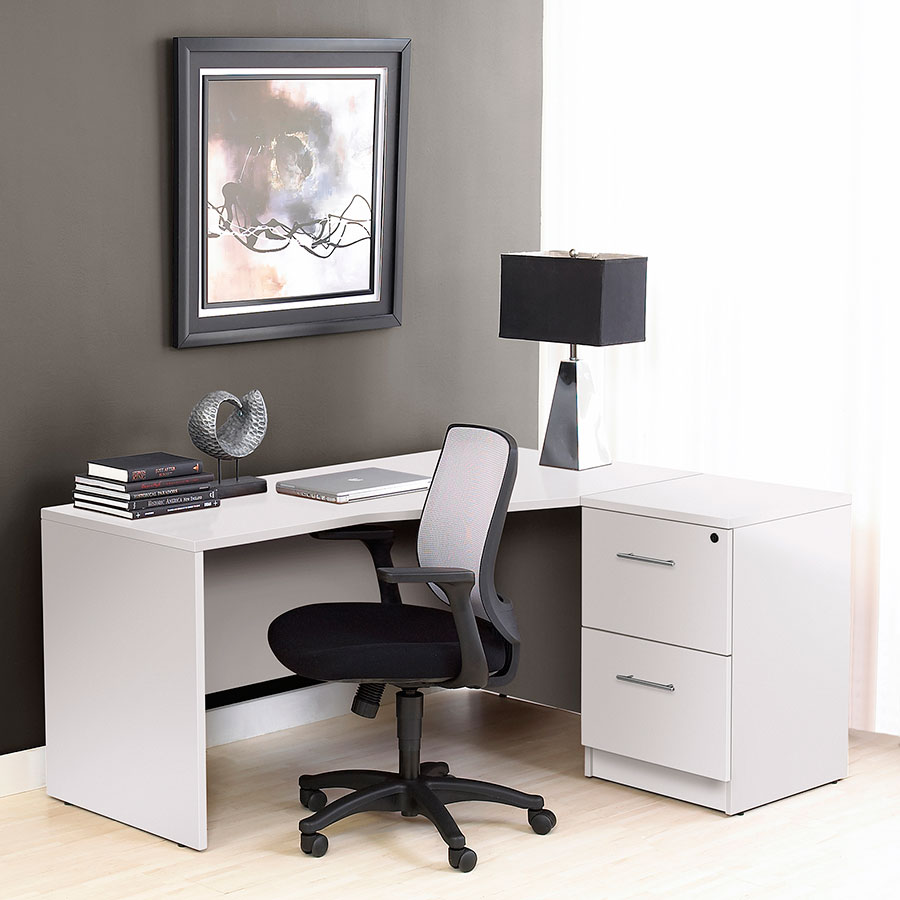 series 100 white two drawer file cabinet