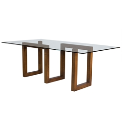 Serpent Contemporary Walnut Dining Table by Saloom