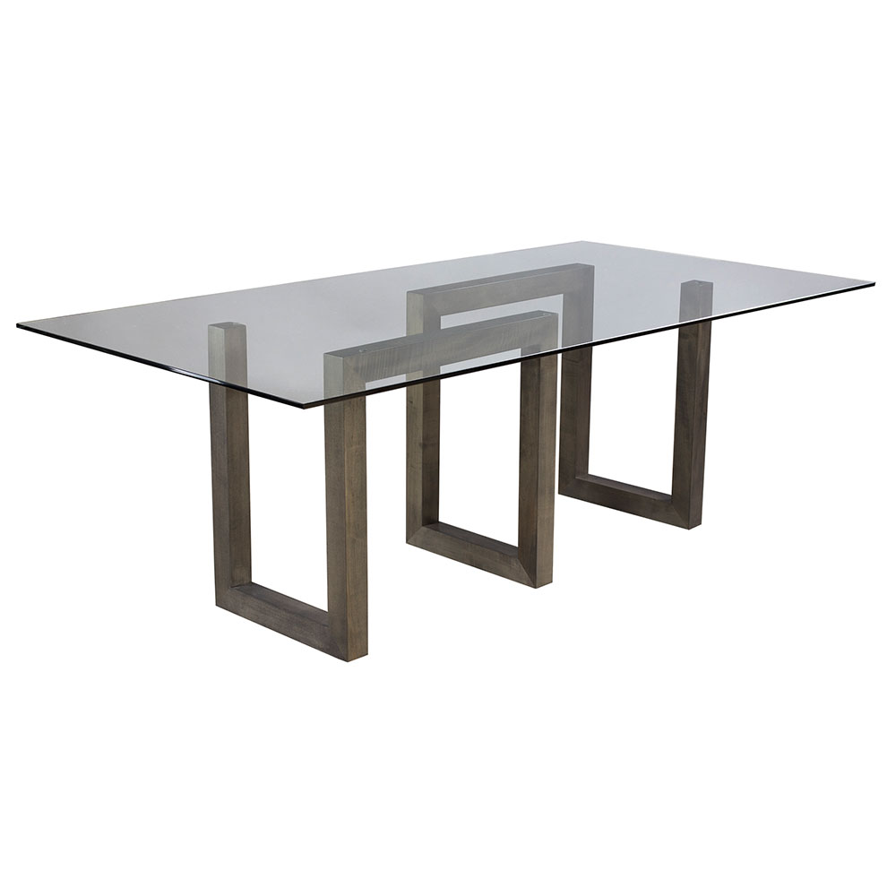 Serpent Contemporary Nantucket-Finished Dining Table by Saloom