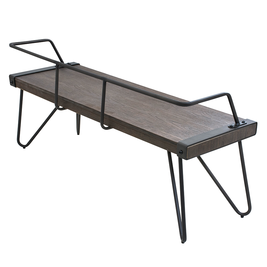 modern benches  sesto bench  eurway furniture -  sesto contemporary industrial bench