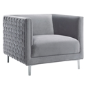 Severyn Modern Lounge Chair in Gray