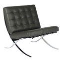 Lounge Chairs - Sevilla Chair in Gray Full Grain Leather