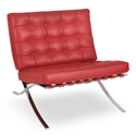 Lounge Chairs - Sevilla Chair in Red Full Grain Leather