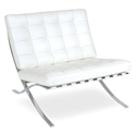 Lounge Chairs - Sevilla Chair in White Full Grain Leather