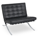 Lounge Chairs - Sevilla Chair in Black Full Grain Leather