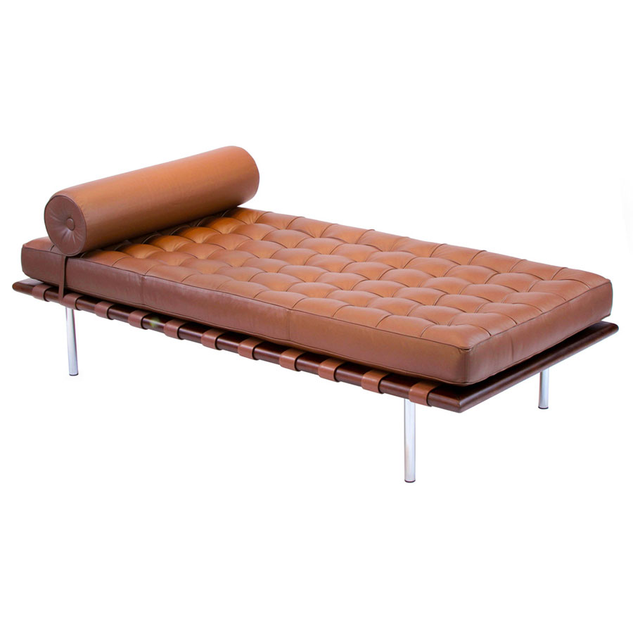 Sevilla Chocolate Leather Modern Classic Daybed