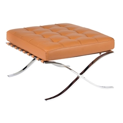 Sevilla Ottoman in Cognac Full Grain Leather