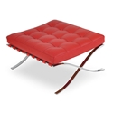 Sevilla Ottoman in Red Full Grain Leather