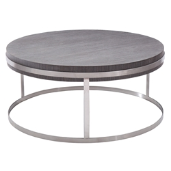Seville Modern Round Brushed Steel Coffee Table