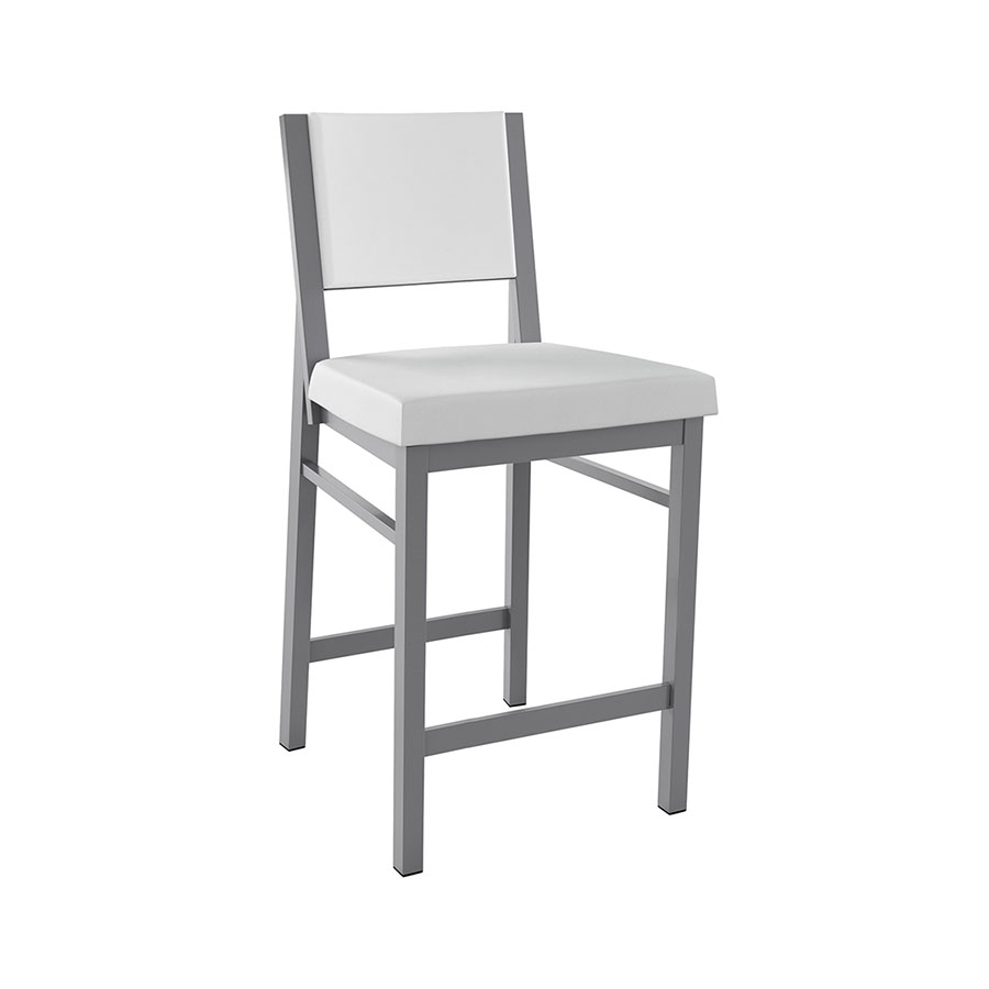 Shadrach Modern Counter Stool in Titanium