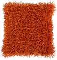 Shag Modern Orange Polyester Accent Pillow