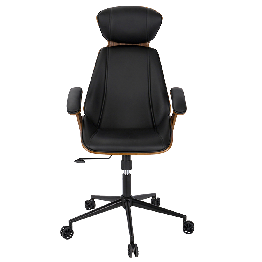 ... Shalom Black Contemporary Office Chair ...