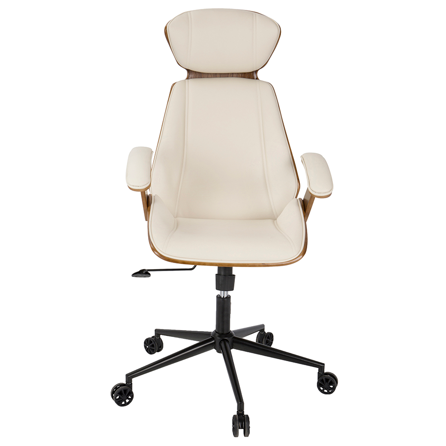 Good ... Shalom Cream Contemporary Office Chair ...