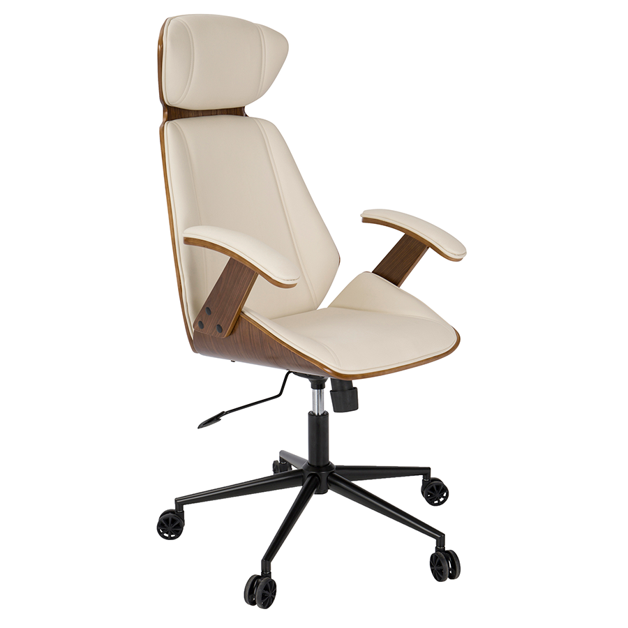Shalom Cream Modern Office Chair