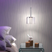 Sharif Contemporary Glass + Chrome Hanging Lamp