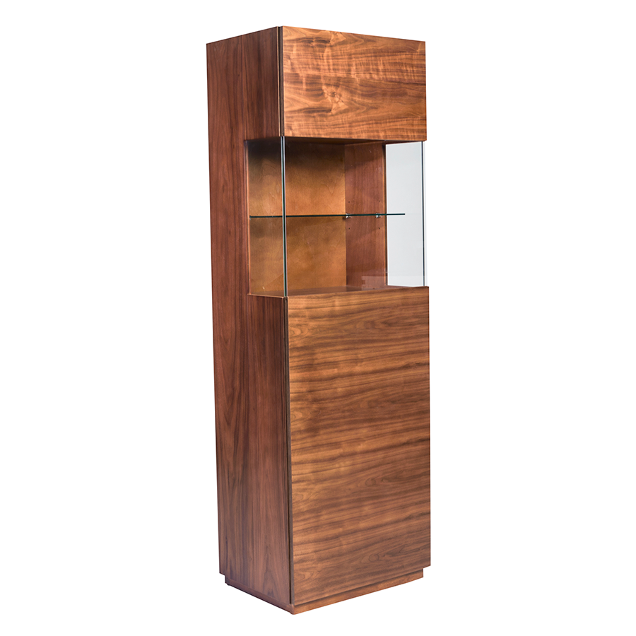Shaw Walnut Modern Display Cabinet | Eurway