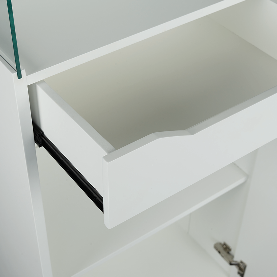 Delicieux ... Shaw White Modern Display Cabinet Detail