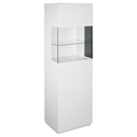 Shaw White Modern Display Cabinet