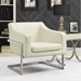 Shaw Contemporary Lounge Chair in White