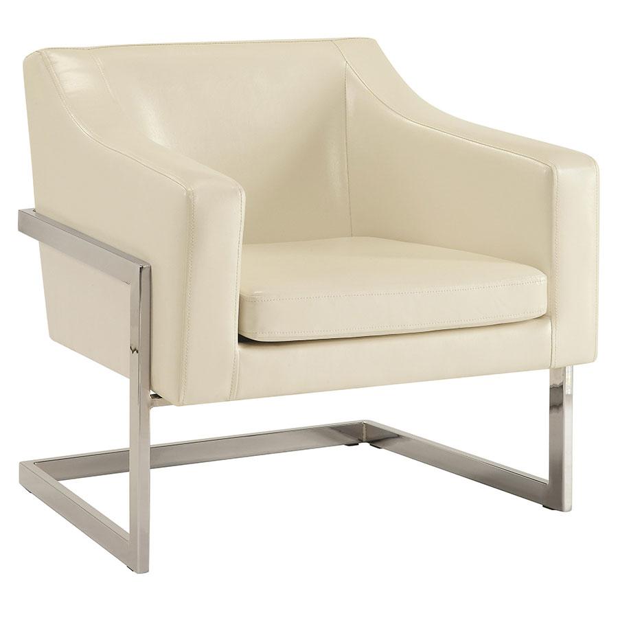 Shaw Modern Lounge Chair in White
