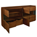 Shaw Walnut Modern Sideboard Open