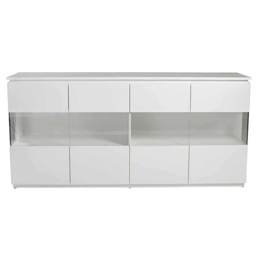 modern buffets  shaw white sideboard  eurway -  contemporary sideboard · shaw matte white modern buffet