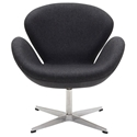 Shell Modern Classic Lounge Chair in Dark Gray