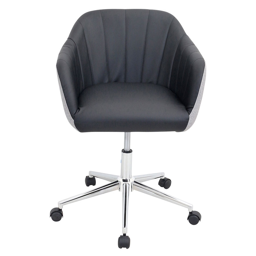 modern office chairs sherwin black office chair eurway