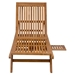 Shula Teak Modern Outdoor Chaise