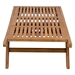 Shula Teak Contemporary Outdoor Chaise