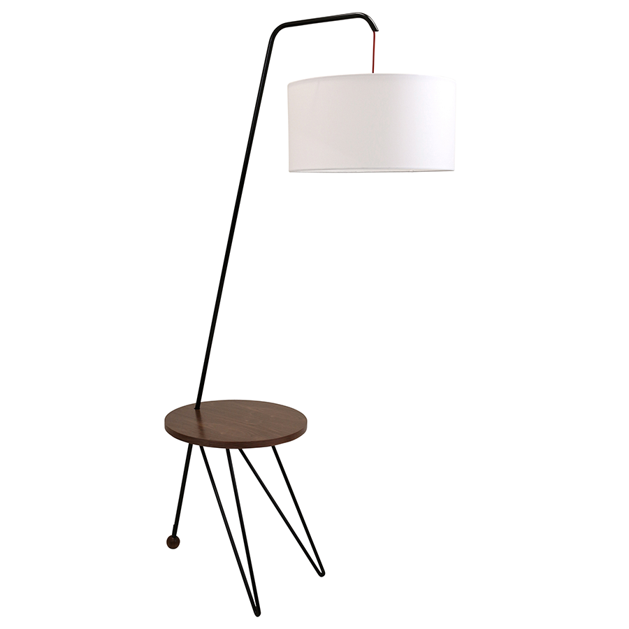 Shura modern floor lamp side table eurway for Floor lamp with table