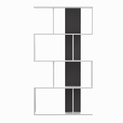 Sigma Matte White + Black Bookcase by TemaHome