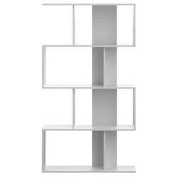 Sigma Matte White Modern Bookcase by TemaHome