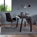 BDi Sigma Gray Wood Laminate + Black Steel + Black Glass Modern Desk | Room Shot