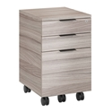 BDi Sigma Gray Wood Laminate + Black Steel Modern Mobile Cabinet