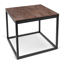 Sigma Black + Ceramic Modern Side Table