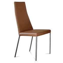 Silva Tobacco Leather Dining Chair