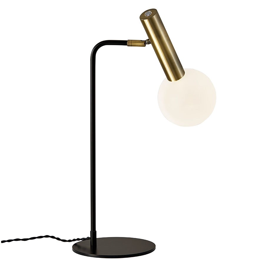 Call To Order Simmons Modern Antique Brass Desk Lamp