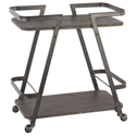 Simpson Modern Industrial Serving Cart in Espresso