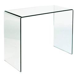 Modern Console Tables - Sinclair Solid Glass Console Table